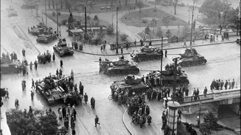 Soviet army tanks on the streets of Budapest on November 12, 1956. The quashing of the revolution claimed the lives of 2,000 citizens and injured hundreds more.