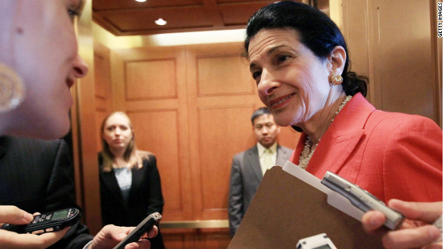 U.S. Sen. Olympia Snowe, who announced this week that she would not seek reelection.
