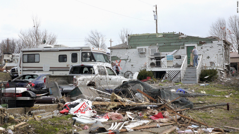 Harrisburg residents continue to clean up after Thursday's tornado.
