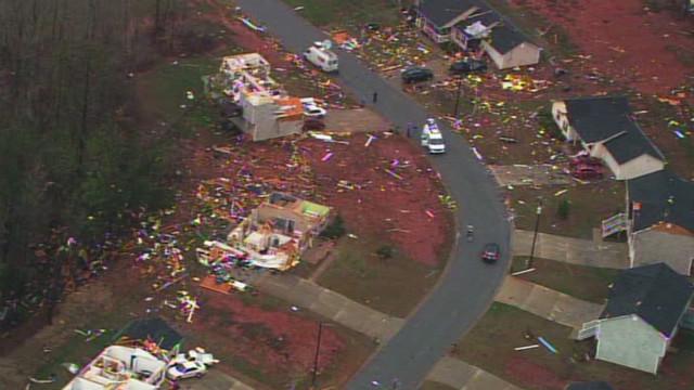 Homes torn apart, no one hurt in Georgia