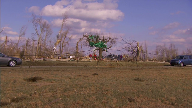 Tornado victim died protecting wife