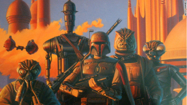 One of Ralph McQuarrie's original artwork was titled 'Bounty Hunters in Cloud City.'