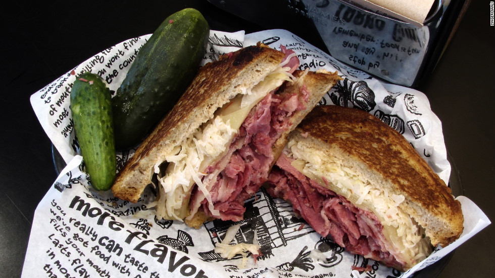 Make a stop in neighboring Ann Arbor for the famous Reuben sandwich at Zingerman's deli.