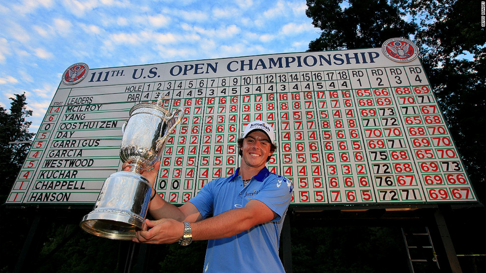 "Major winner: McIlroy <a href=""http://edition.cnn.com/2011/SPORT/golf/06/19/golf.us.open.mcilroy/index.html"">bounced back</a> from his Masters collapse in amazing fashion winning the U.S. Open in a record low aggregate score of 268."