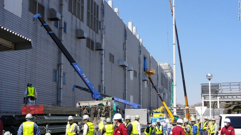Workers took part in a clean-up operation that was unprecedented in the firm's history.