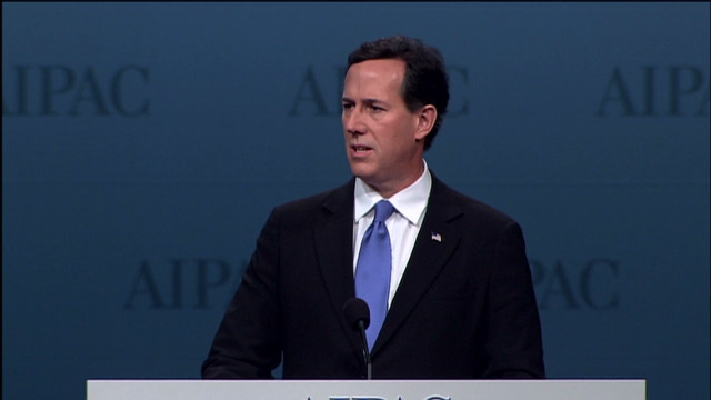 Santorum: Obama turned back on Israel