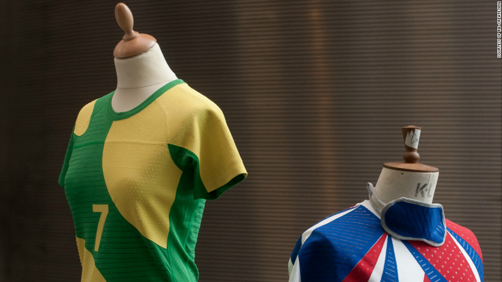 """Other ideas were simpler, but just as interesting. """"Rainbow Touch"""" uses patterns of texture and color to create team vests which are easily identifiable to teammates."""