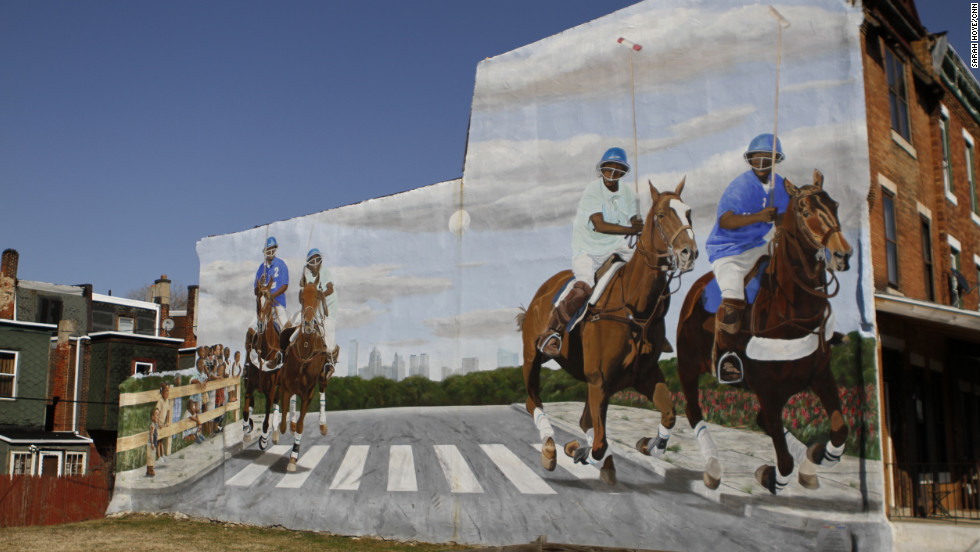 """Philadelphia's Mural Arts Program, the nation's largest mural program, erected a mural in West Philadelphia in honor of Work To Ride. The players' success led to them being featured on HBO's """"Real Sports with Bryant Gumbel,"""" ESPN's """"E: 60"""" and even in """"Sports Illustrated."""" """"We're doing beyond what kids would do in the city. So, it's special."""""""