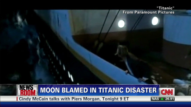 Moon blamed for Titanic disaster