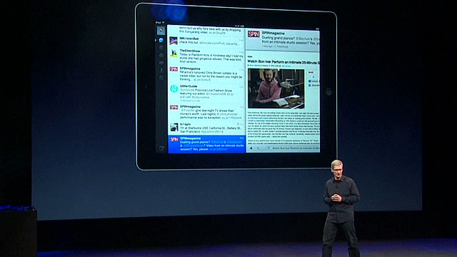 Tim Cook explains why iPad wins market
