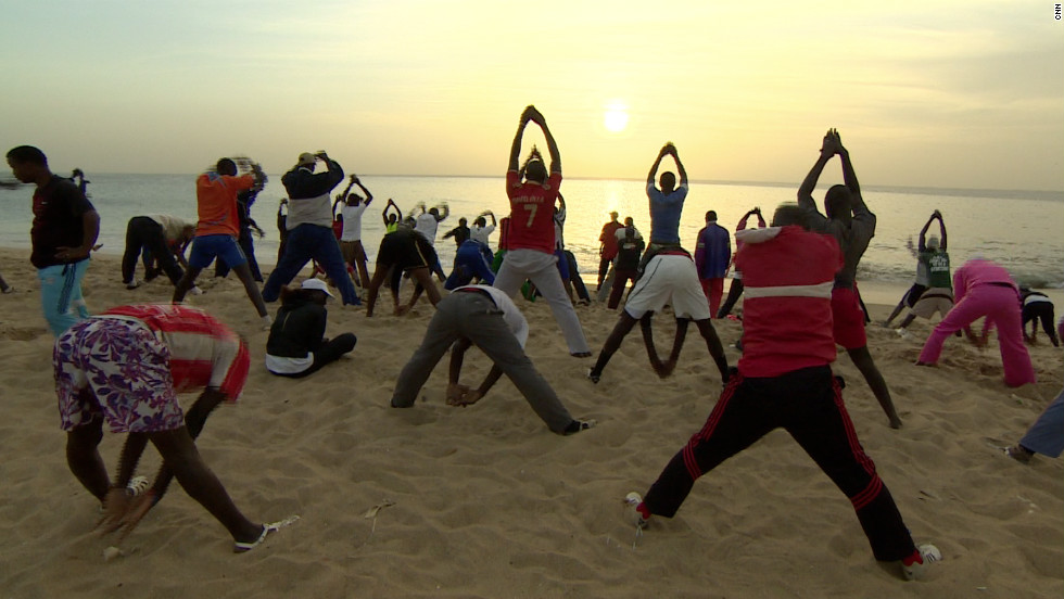 Senegal's biggest wrestling stars can earn up to $200,000 per contest. Many see wrestling a way out of poverty, which might explain the popularity of workouts on the beaches of Dakar.