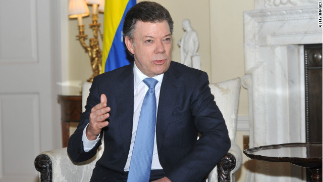 (file photo) Colombian President Juan Manuel Santos wrote a condolence message about the crash on Twitter.
