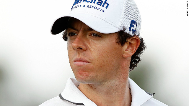 A pensive Rory McIlroy on the ninth on the Blue Monster at Doral.