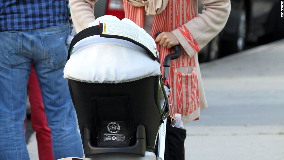Jessica Alba goes to the park with her family in Beverly Hills.