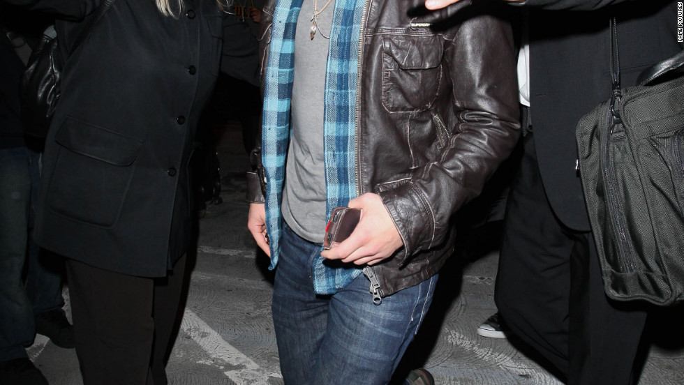 Josh Hutcherson arrives in Los Angeles.