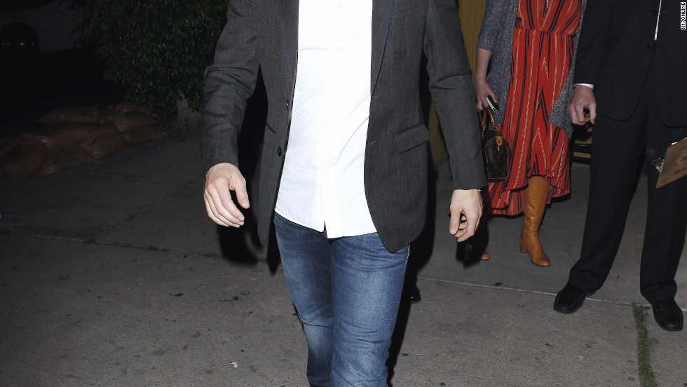 Ryan Seacrest leaves a restaurant in West Hollywood.