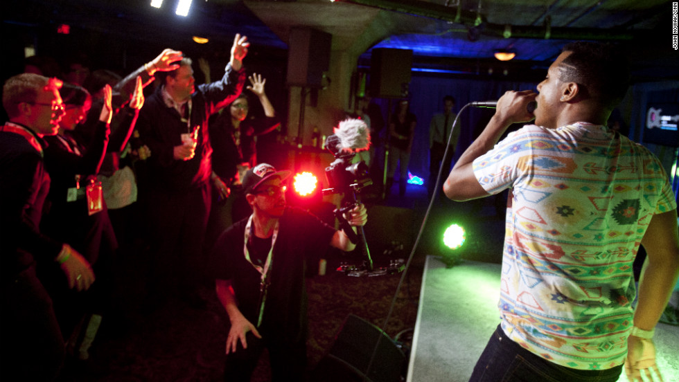 Hip-hop artist Zeale was another one of many live entertainers at the CNN Grill this week.