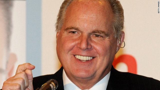 Conservative commentator Rush Limbaugh, who upbraided Roland Martin on his radio show for comments on racism