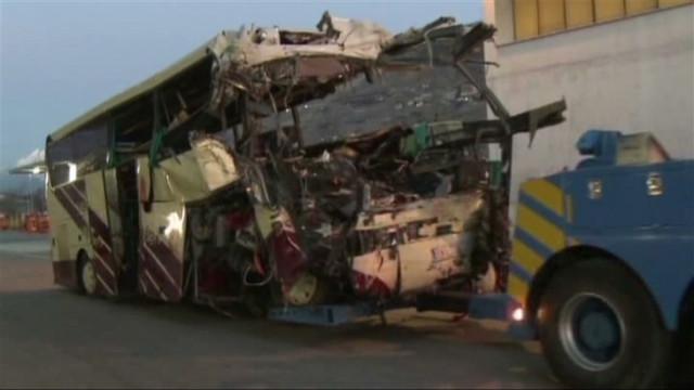 Bus crash in Switzerland tunnel