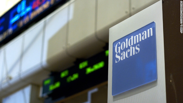 Photo of Goldman Sachs on Wall Street.