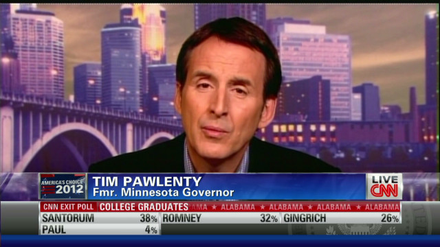 Pawlenty discusses Romney electability
