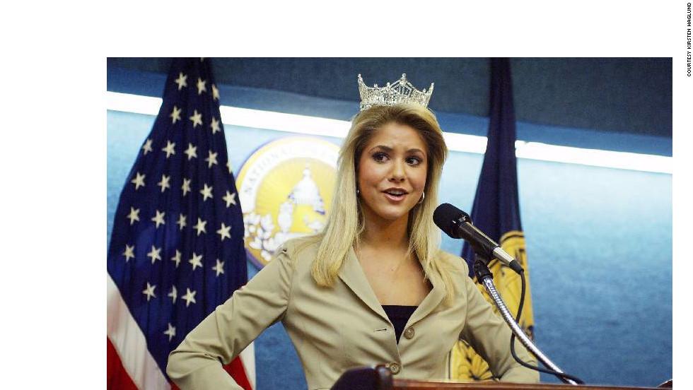 Haglund speaks at the National Press Club in Washington in 2008.