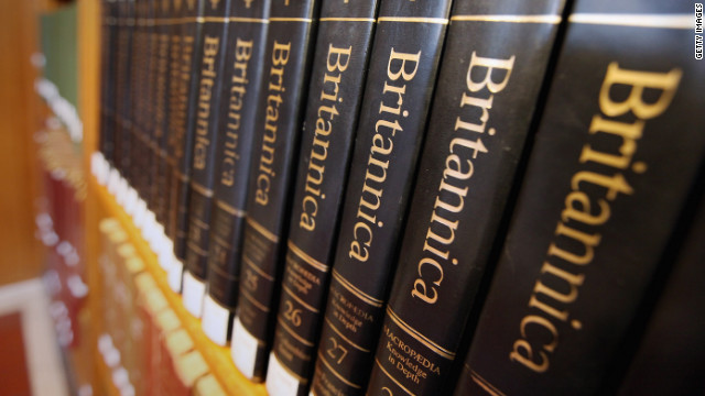 The Encyclopedia Britannica will no longer be printed. The iconic books have been around for 244 years.