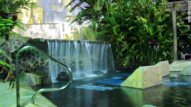 This resort boasts 25 natural mineral pure water pools.