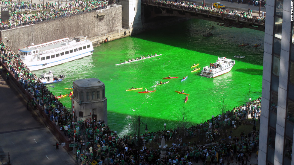 In the United States, the Chicago River is dyed green annually with a secret recipe. The first U.S. St. Patrick's Day parade was held in Boston in 1737.