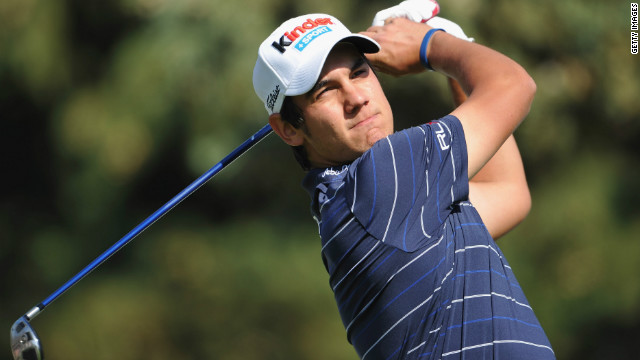 Matteo Manassero of Italy plays a shot during the third round of the Open de Andalucia Costa del Sol at Aloha golf club on March 17, 2012 in Marbella, Spain