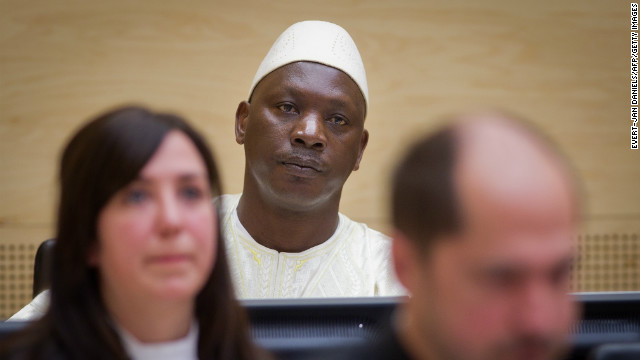 Congolese militia boss Thomas Lubanga sits in the International Criminal Court at the Hague as he waits for a verdict to be given on his trial for warcrimes on March 14, 2012. Lubanga was found guilty of crimes of conscription and enlisting children, the court's first verdict since its launch a decade ago