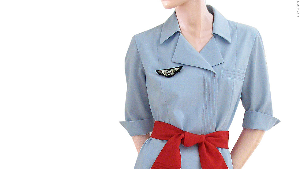 Muskiet has been collecting flight attendant ensembles since the early 1980s.