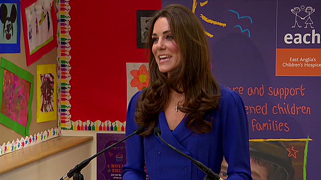 Catherine's first speech as duchess