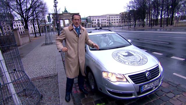 Driverless car navigates Berlin