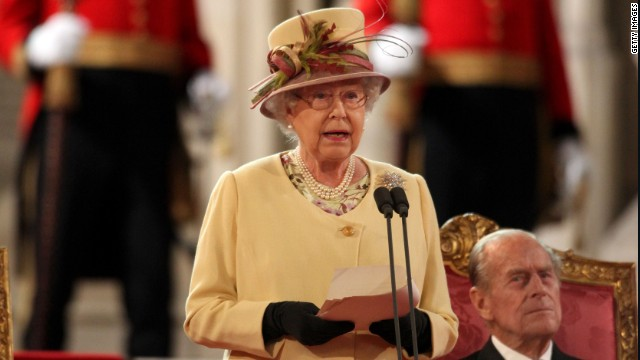 Queen Elizabeth speaks to Parliament