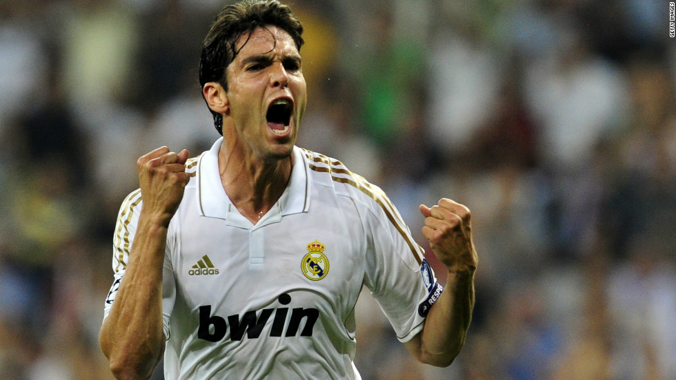 Brazil playmaker Kaka was briefly the world's most expensive player when he signed for Real Madrid from AC Milan in 2009. The reported$100 million fee Real paid for his services was beaten later in the same transfer window, when the Spanish club signed Ronaldo.