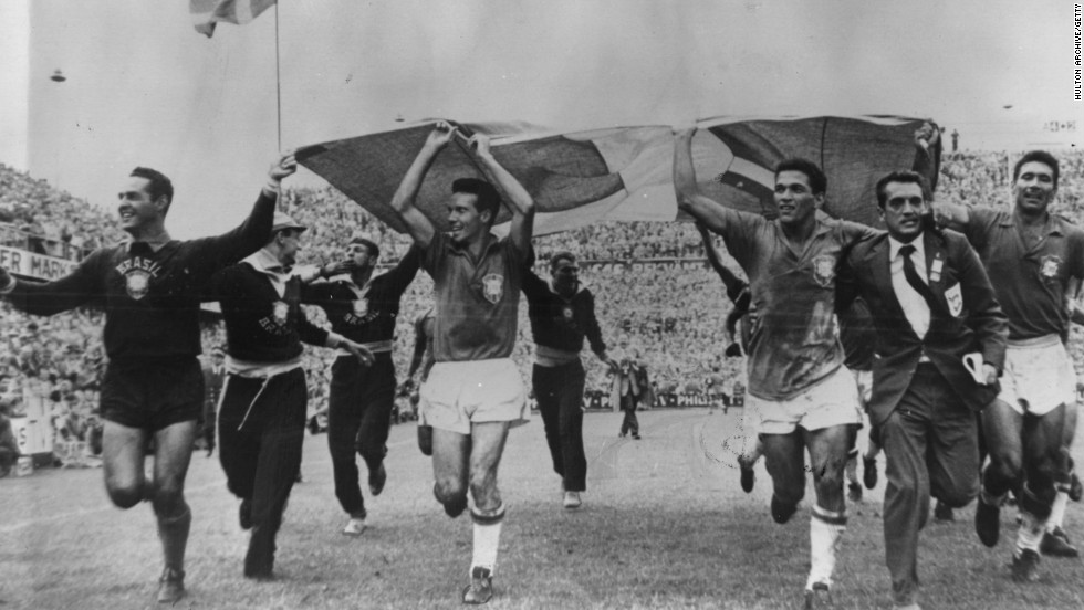 "Pele was a 17-year-old member of the Brazil side which triumphed in the 1958 FIFA World Cup in Sweden -- the first of a record five titles, hence the team nickname ""Pentacampeoes"" (five-time champions)."