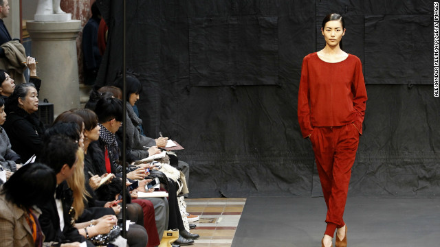 A model for Hermes during the Fall/Winter 2012-2013 ready-to-wear collection show on March 4 in Paris.