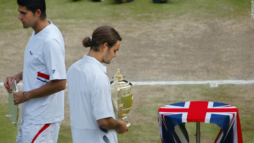 Philippoussis' second and last grand slam final appearance came at Wimbledon in 2003 when he lost in straight sets to Roger Federer, who would go to win five in a row at SW19.
