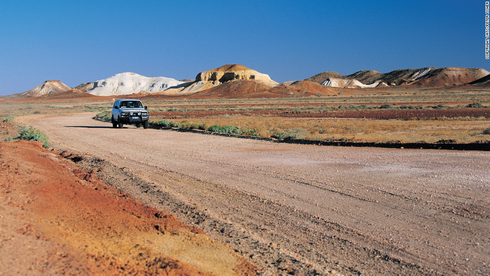 The arid climate prompted early settlers to dig homes underground.
