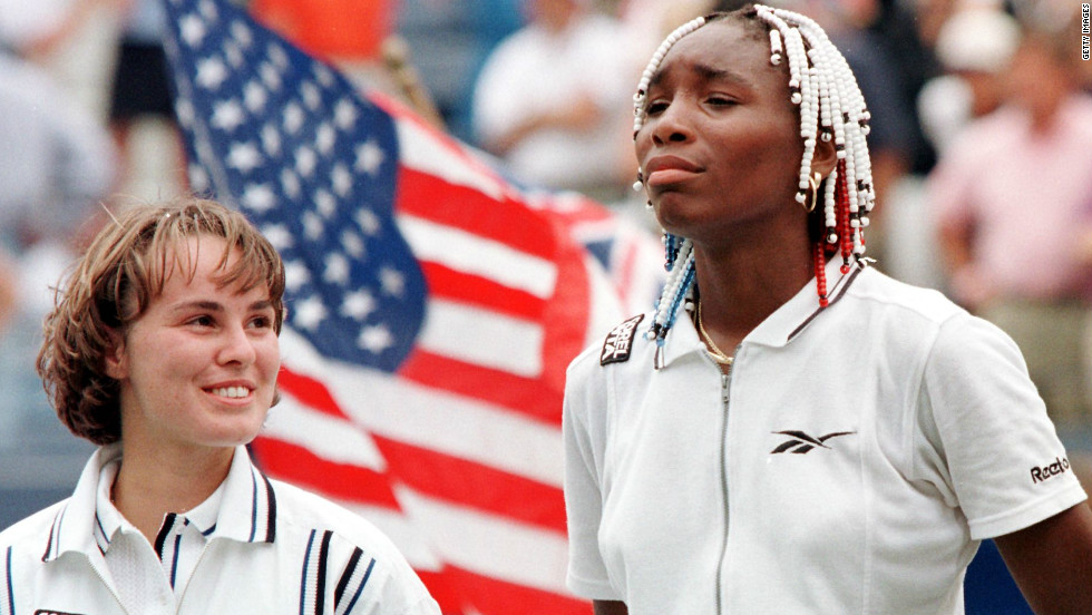 In 1997, Williams became the first woman since Pam Shriver in 1978 to reach the final of her debut U.S. Open. She lost the showpiece match at Flushing Meadows 6-0 6-4 to Switzerland's Martina Hingis.