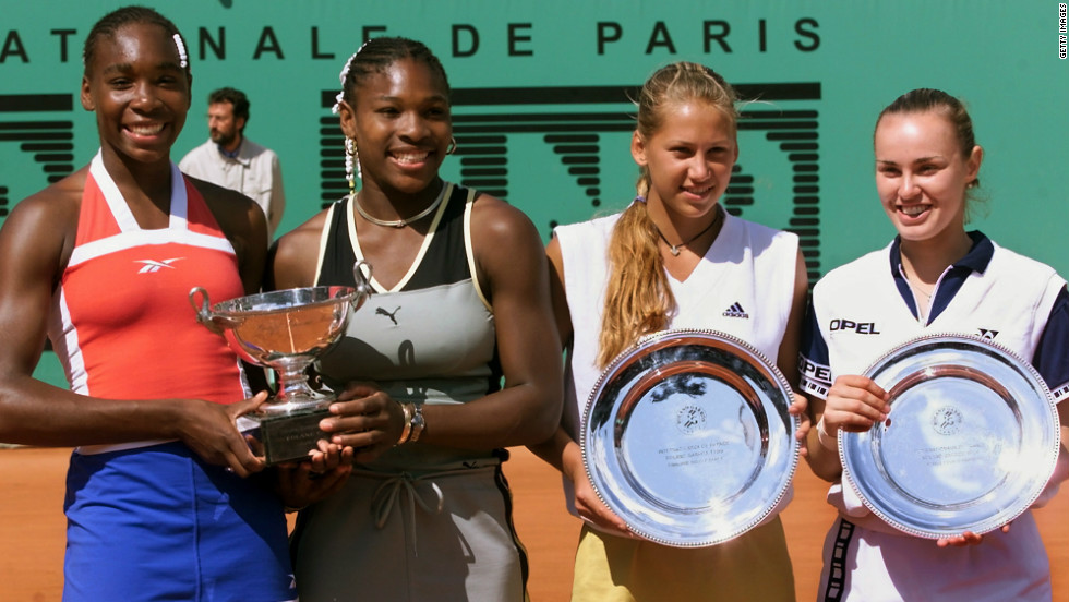 Williams won her first grand slam women's doubles title alongside younger sister Serena at the 1999 French Open. Venus claimed two mixed doubles titles in 1998, winning at the Australian Open and Roland Garros with compatriot Justin Gimelstob.