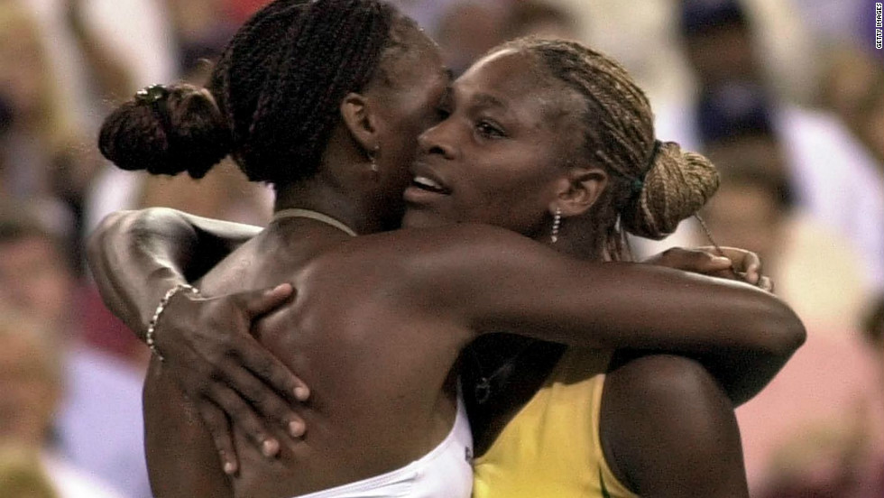 Williams retained her U.S. title in 2001 by beating Serena in the first grand slam final to be played between two sisters in the post-1968 Open era.