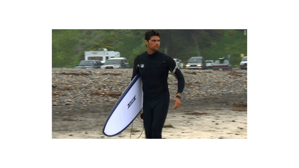 Australian Mark Philippoussis reached No. 8 in the world tennis rankings but now he spends his days lapping up the surf in San Diego.