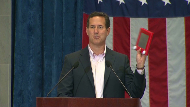 Santorum: Policy not on an Etch A Sketch