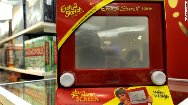 A Romney campaign gaffe that likened shifting to the general election to shaking up an Etch A Sketch could dog the race.