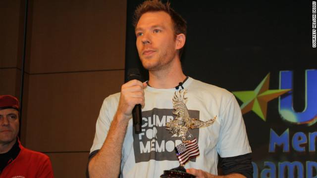 Dellis speaks at the 2011 USA Memory Championship in New York shortly after winning. He says his performance has improved sharply in practice over the past year.
