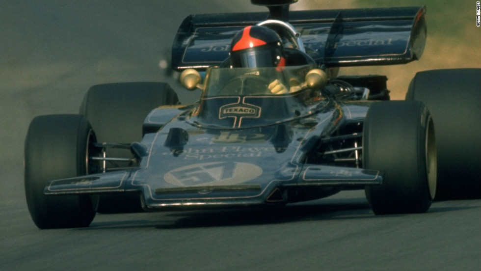 Brazil's Emerson Fittipaldi won another drivers' title for Lotus in 1972. He went on to claim glory once more in 1974.