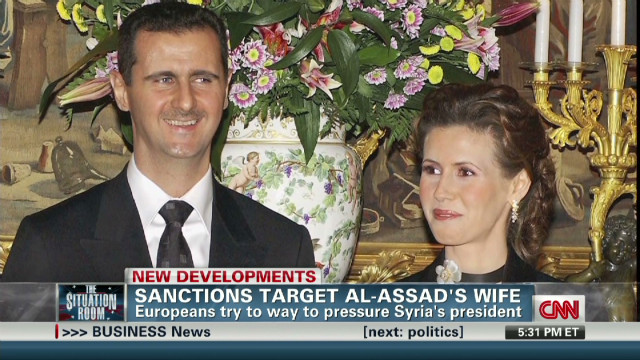 Sanctions target Syrian leader's wife