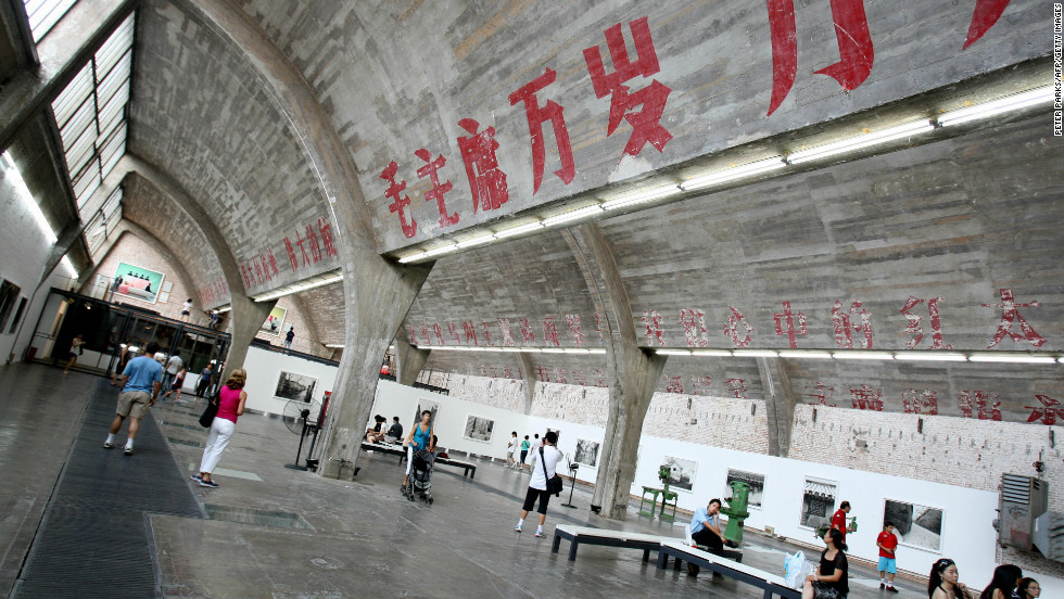 """""""798 Art District"""" is a Chinese contemporary art compound in the Dashanzi district of Beijing. The area is now a thriving arts hub."""